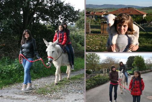 ¡Un día en la naturaleza! Visita teatralizada a una granja y paseo en burro
